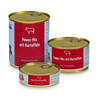Natvoer power-mix met rund en aardappelen